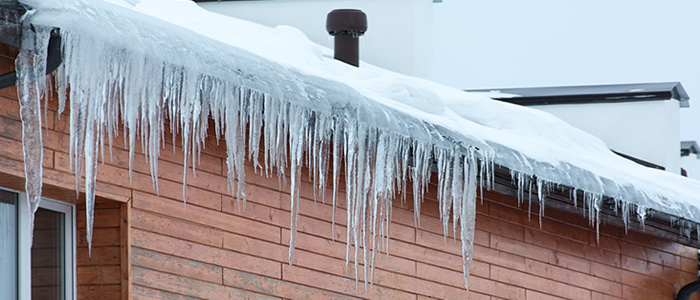 Icicles on roof
