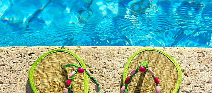 Sandals by pool